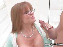 Sexy redhead Stepmom teaches daughter