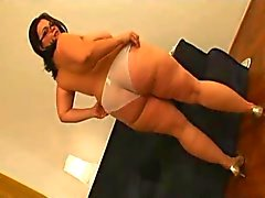 Horny BBW Ex GF with shaven pussy love sucking, riding cock
