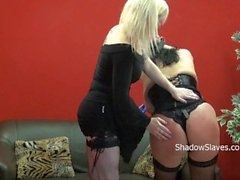 Bbw slave Andreas lezdom tit torture and hard spanking by blonde mistress A