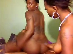 Handjob dick playing black ebony maid