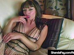 Cougar Shanda Fay Fucks Throbbing Cock In Body Stocking!