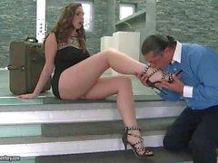 Paige del Turnah obtiene su los pies adoraban a y follada