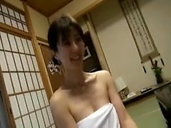 Spying on roommate in shower then blowjob handjob facial