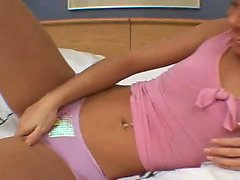 Small Tity Blonde Babe Gives Deepthroat to long stick