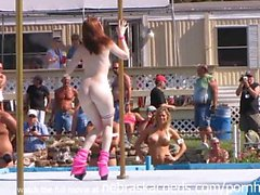 Strippers Raw and Naked in Public at Awesome Nudes a Poppin Festival Indian