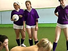 Horny babes Jess, Kerry and Rita spread their long legs
