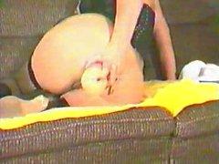 Anita Feller retro anal dildo