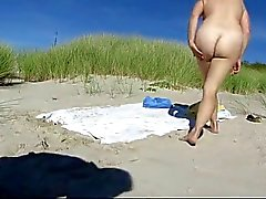 Praia de nudismo - Rehead foda maduro