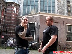 Amsterdam whore doggystyle fucked after bj
