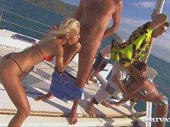 Sahara and Boroka Have Fantastic Group Sex on the Catamaran