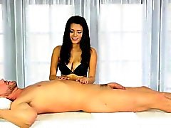 Sizzling masseuse jizzed