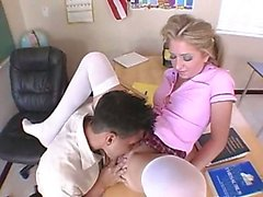 schoolgirl with pigtails having coitus