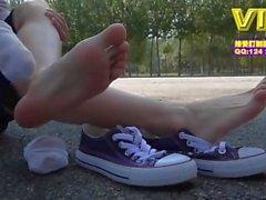Asian white socks