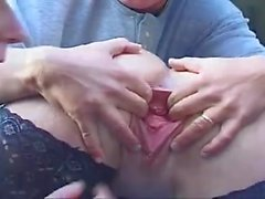 Busty whore fisted and fucked in the truck
