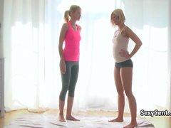 Yoga pants lesbian teens fucking