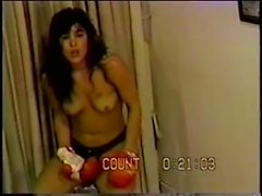 Roni vs Blondie Topless Boxing