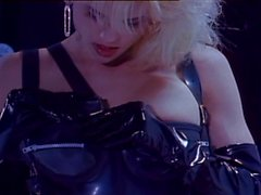 Blond passionate latex fucking