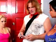 Jewel Jade y de su esposo dotados cogida Adolescente rubio que Elaina