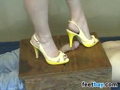 Stepping On His Dick With Heels On