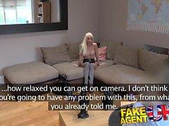 FakeAgentUK Petite blonde UK escort takes big fat