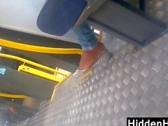 Checking Out This Girls Feet On A Bus