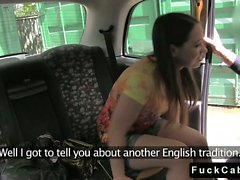 British amateur babe gets anal fucked in fake taxi