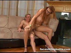 Guy fucks his new busty redhead step mom