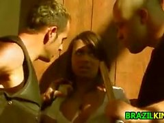 Brazilian In A Threesome Outdoors