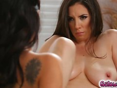 Jelena Jensen sucked on her mother's tits