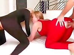 Horny cfnm femdom babes get anal in their tight asses