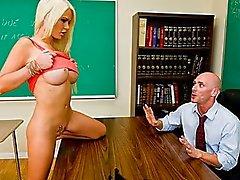 Groß Meise Lehrer Gets Gefickt