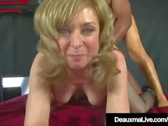 Horny Cougars Deauxma & Nina Hartley Fuck & Suck Black Cock!