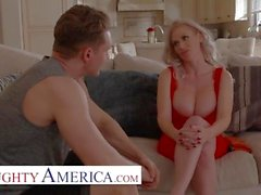 naughty america - casca akashova plays with the football captain