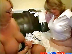 Two BBW Lesbian Grandmothers Playing