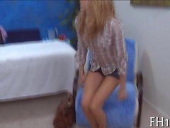 Slim teen angel gets mouth and pussy fucked well