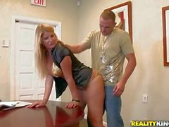 Big titted secretary Robbye Bentley gets banged