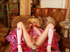 Sissy Kali Crossdresser Poppers ATM Fucking Machine Cum Eating