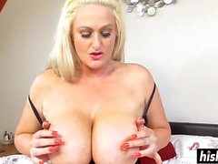 June moans while she masturbates
