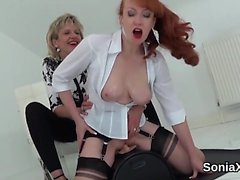 Unfaithful uk mature lady sonia flaunts her enormous boobs