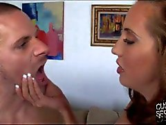 Humiliating cuckold clean up of Kelly Divine