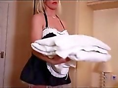 blonde maid gets fucked