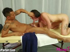 Massage Parlor horny Masseuse Sucks Asian cock