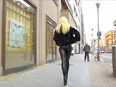 Latex Catsuit in the Street