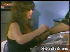 Sharon Kane and Tracey Adams in a lesbian foot fetish video