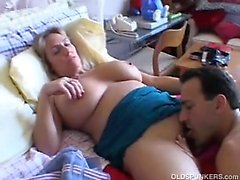 nastyplace - An amateur blonde mature makes a porn video