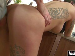 Pretty Kimmie gets banged in the kitchen