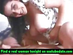 Cute Arabic chick masturbates for her lover then he nails her and she blows him POV