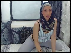 strip tease hot hijab girl