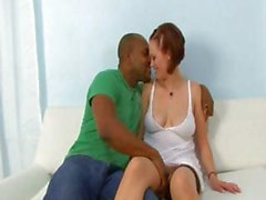 Horny hubby brings in a big black dick to satisfy his wife while he watches