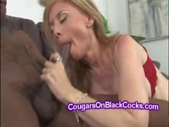 Stacked mature Nena Hartley uses lingerie when takes big black cocks
